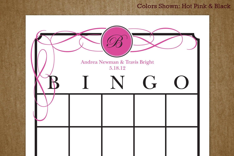 Printable Bridal Shower Card Bridal Shower Printable Bingo Game Card by Jackaroodesigningco
