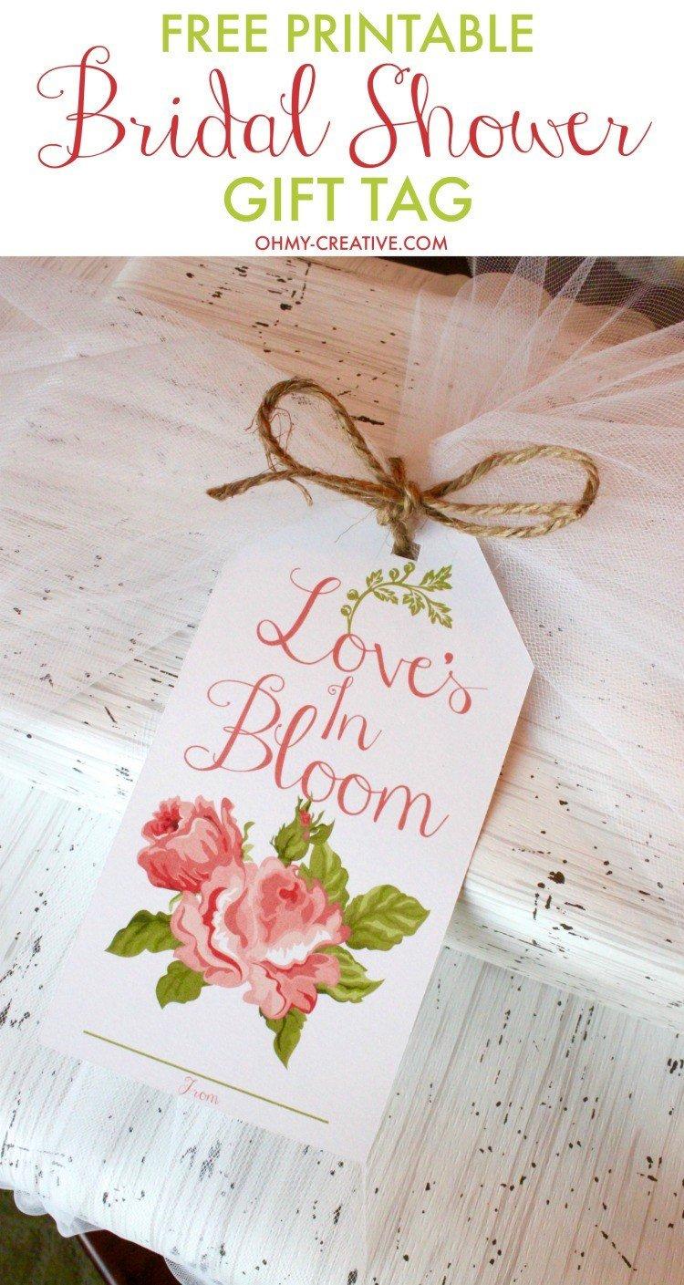 Printable Bridal Shower Card Bridal Shower Printable Gift Tag Oh My Creative
