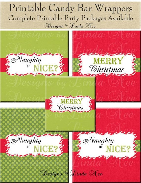 Printable Candy Bar Wrappers Christmas Candy Bar Wrappers Santa Christmas 1 55
