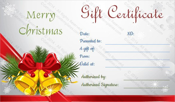 Printable Christmas Gift Certificates 28 Holiday Gift Certificate Templates Psd Word Ai
