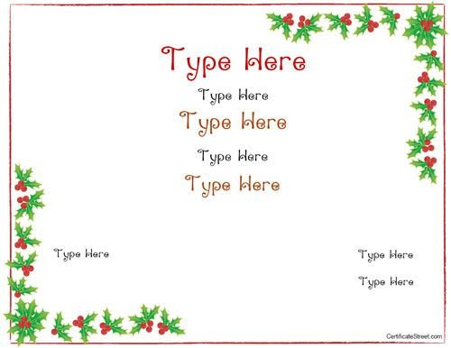 Printable Christmas Gift Certificates Best 25 Blank T Certificate Ideas On Pinterest