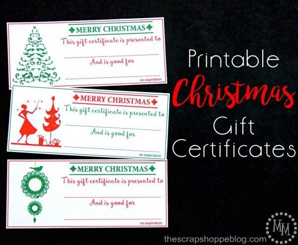 Printable Christmas Gift Certificates Christmas Gift Certificates Design Dazzle