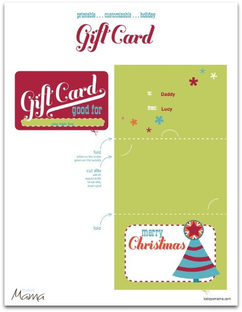 Printable Christmas Gift Certificates Craftionary