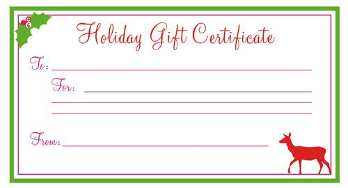 Printable Christmas Gift Certificates Heatherhalesdesigns Blog Archive Free Printable