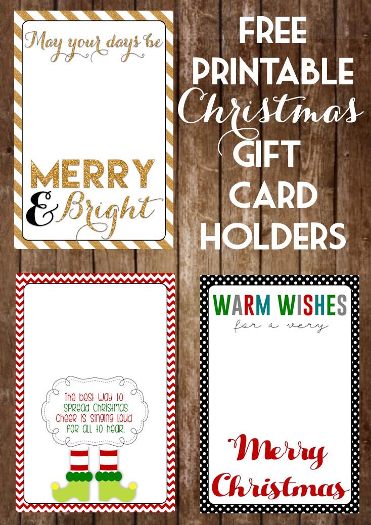 Printable Christmas Gift Certificates Printable Christmas Gift Card Holders the Girl Creative