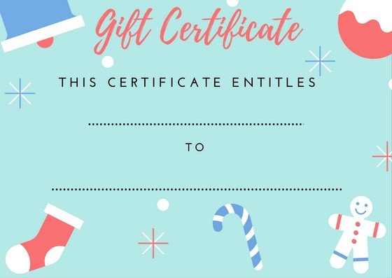 Printable Christmas Gift Certificates Printable Gift Certificates — Everything In Place