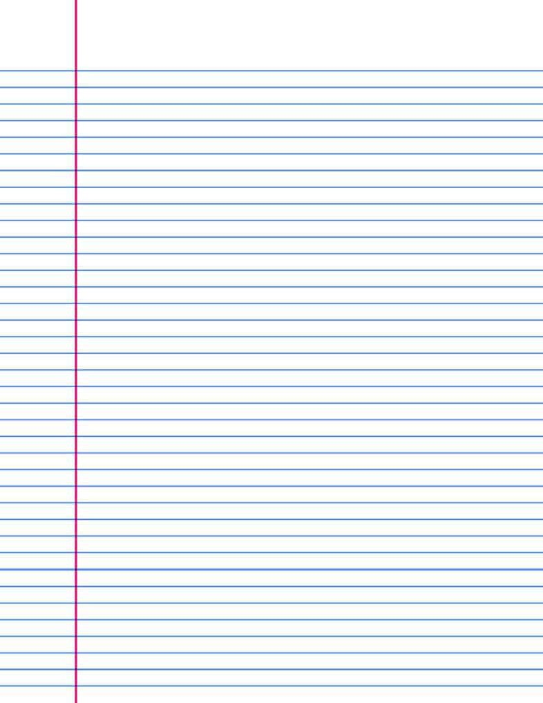 Printable College Ruled Paper 14 Lined Paper Templates Excel Pdf formats