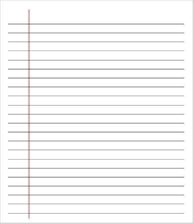 Printable College Ruled Paper Lined Paper Pdf Wide Ruled