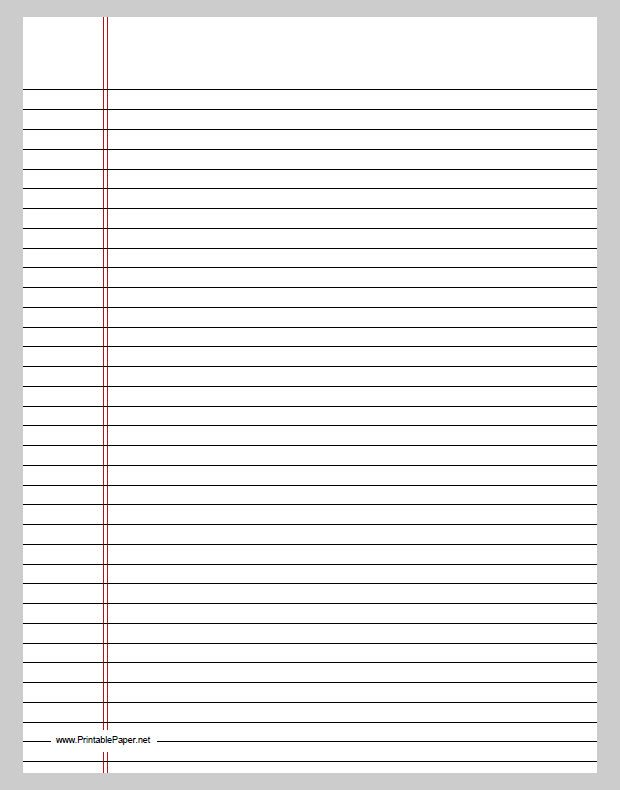 Printable College Ruled Paper Print College Ruled Paper College Ruled Notebook Paper