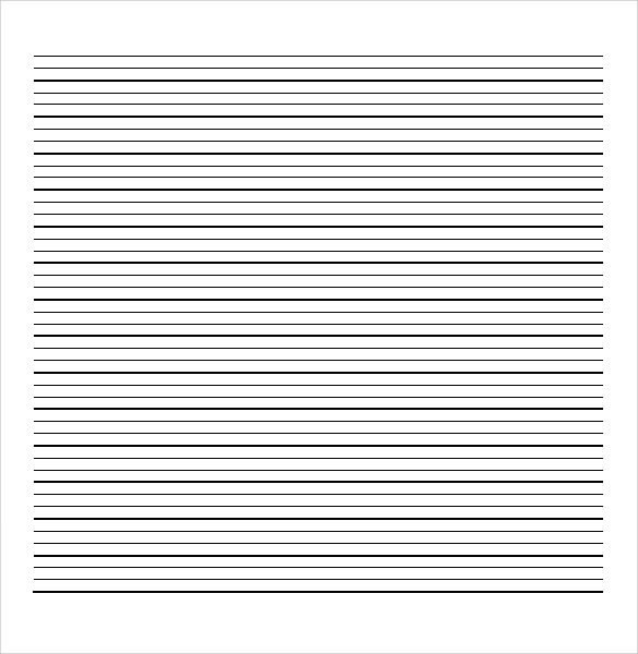 Printable College Ruled Paper Sample College Ruled Paper Template 9 Free Documents In