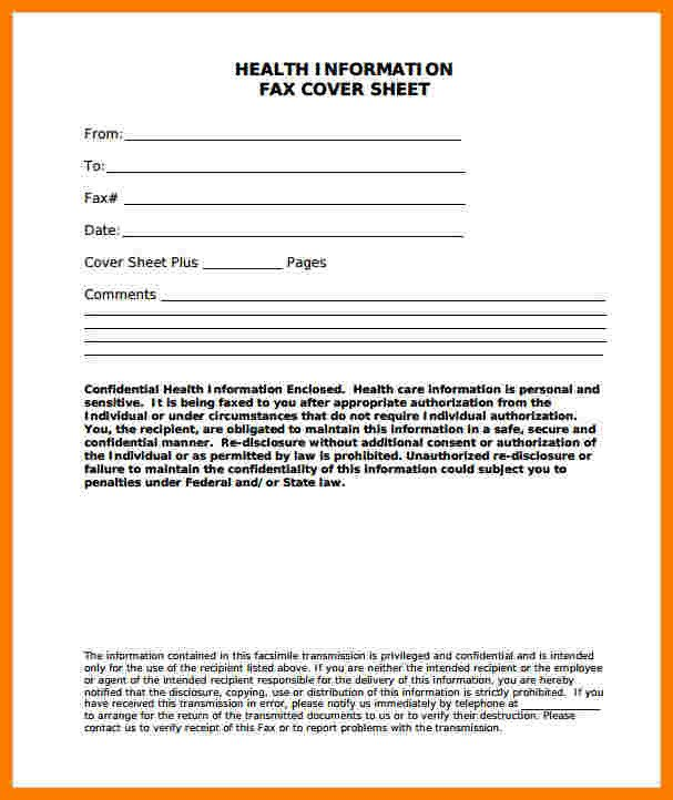 Printable Confidential Cover Sheet 10 Fax Cover Sheet Confidential