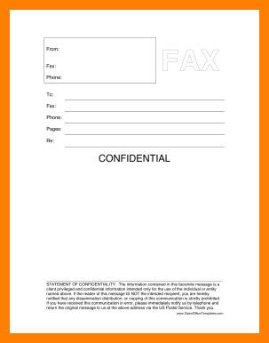 Printable Confidential Cover Sheet 5 Printable Fax Cover Sheet Confidential