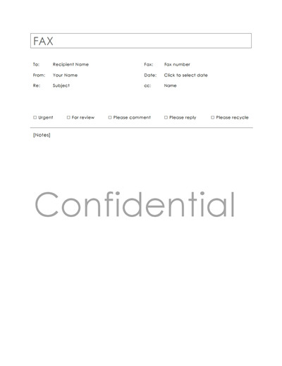Printable Confidential Cover Sheet Confidential Fax Cover Sheet Template Download Create