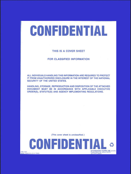Printable Confidential Cover Sheet top Secret Secret Cover Sheets