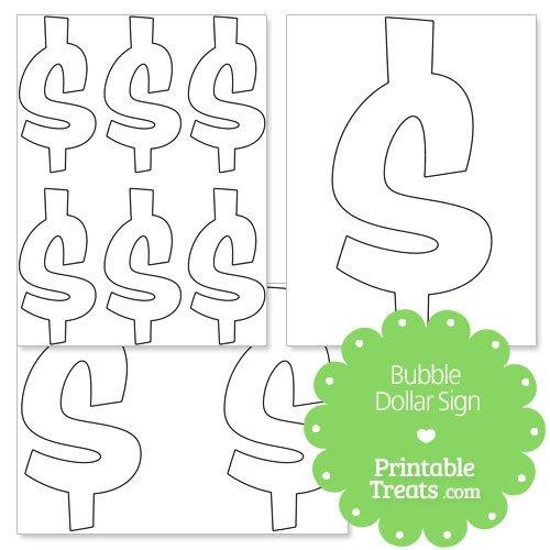 Printable Dollar Signs Printable Bubble Dollar Sign — Printable Treats