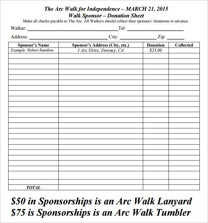 Printable Donation form Template 10 Donation form Download [word Excel Pdf] 2019