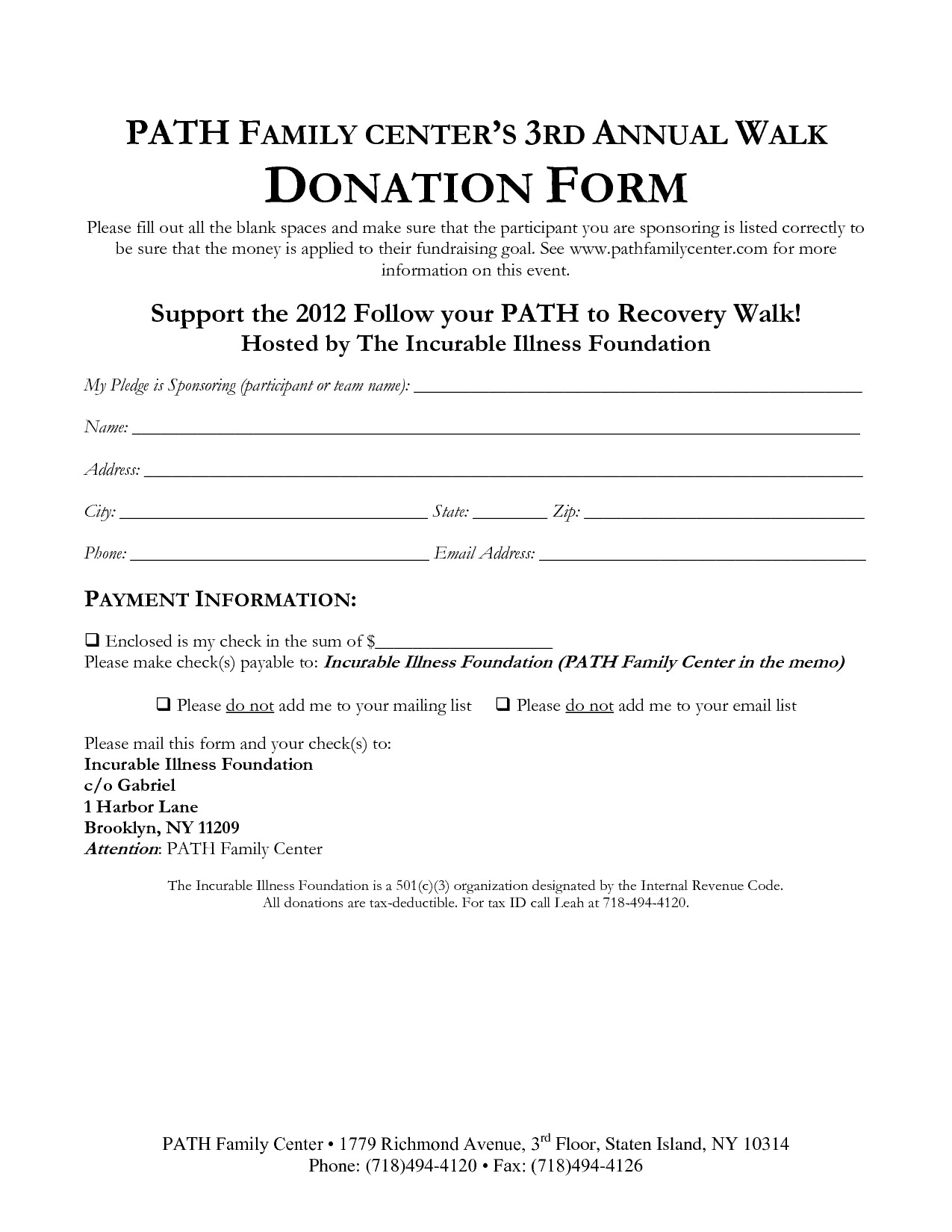 Printable Donation form Template 36 Free Donation form Templates In Word Excel Pdf