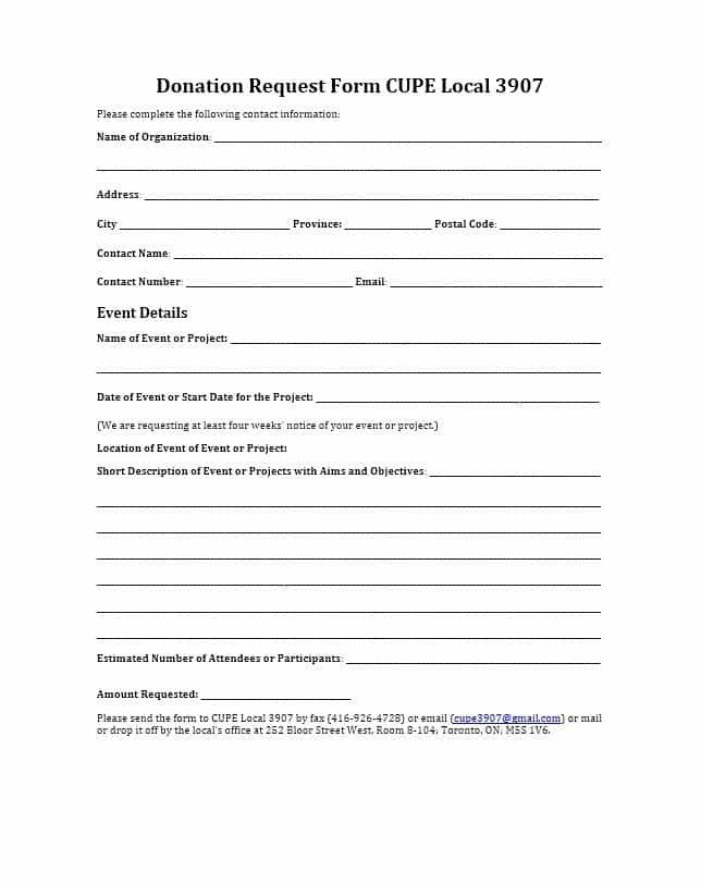 Printable Donation form Template 43 Free Donation Request Letters & forms Template Lab