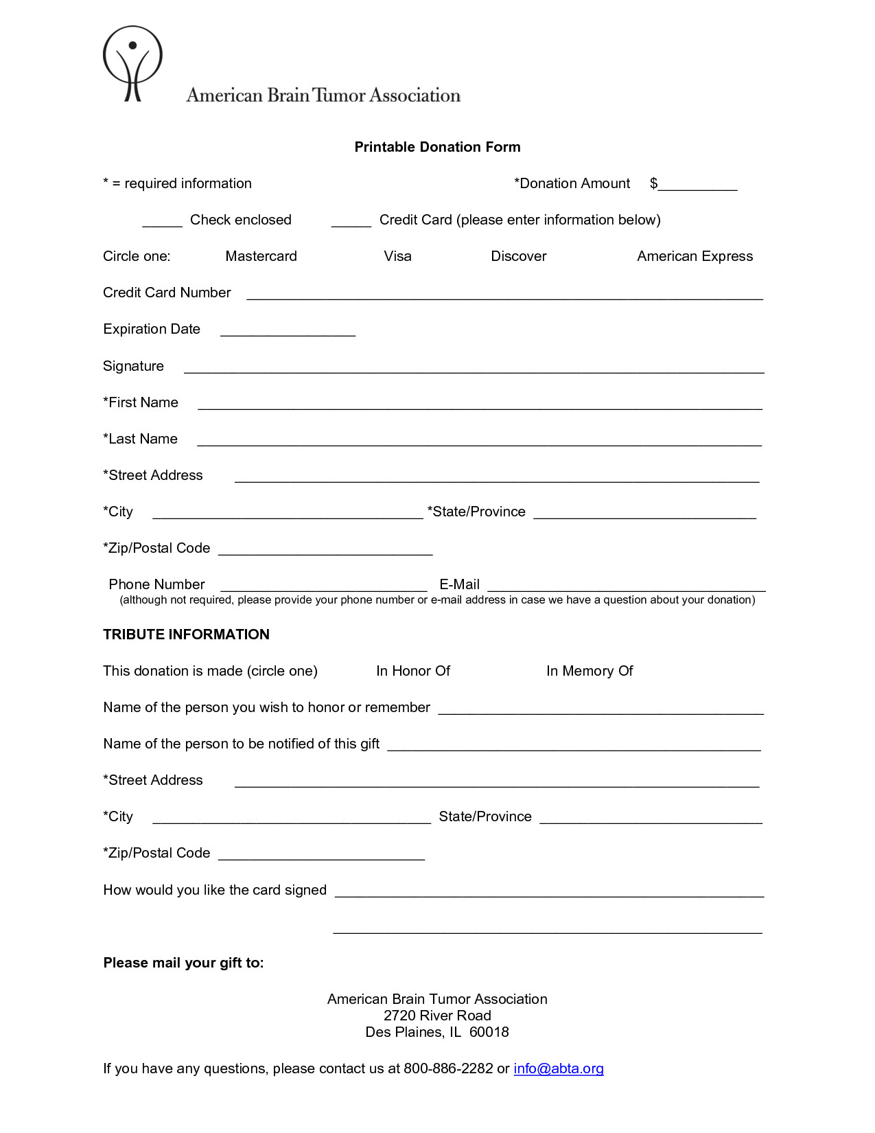 Printable Donation form Template 6 Free Donation form Templates Excel Pdf formats