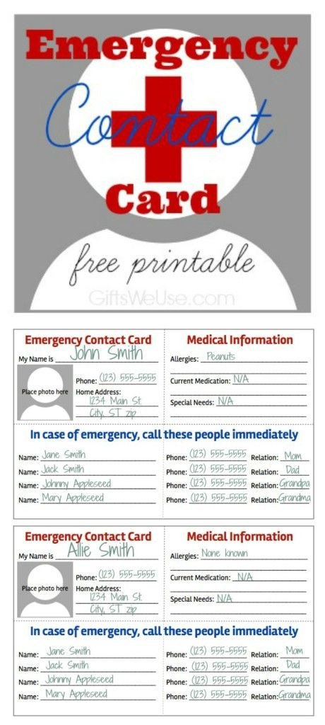 Printable Emergency Card Template 32 Best Printables Medical forms Fitness Images On