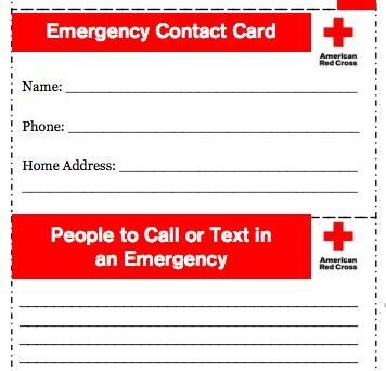 Printable Emergency Card Template How to Prepare for Emergencies when You are Strapped for