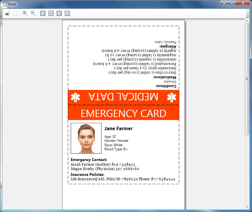 Printable Emergency Card Template How to Print Emergency Card