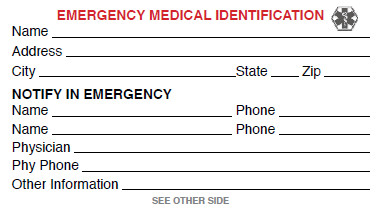 Printable Emergency Card Template Medical Id Card Get Your Free Medical Id Card Here