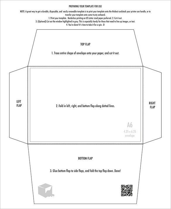 Printable Envelope Template Pdf 4×6 Envelope Templates – 9 Free Printable Word Pdf Psd