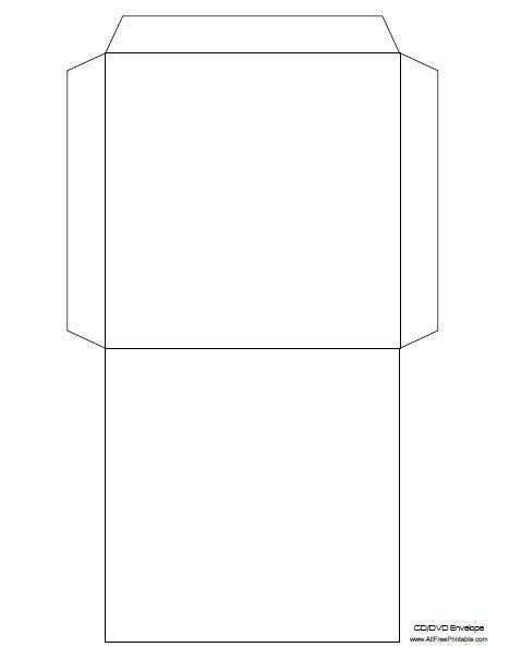 Printable Envelope Template Pdf Cd Envelope Template Free Printable Allfreeprintable