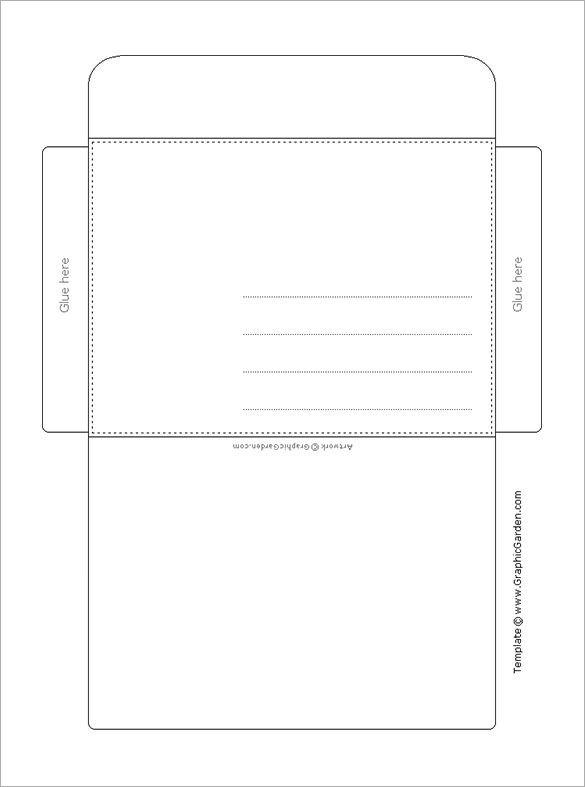 Printable Envelope Template Pdf Envelope Template 37 Free Printable Psd Pdf Eps Word