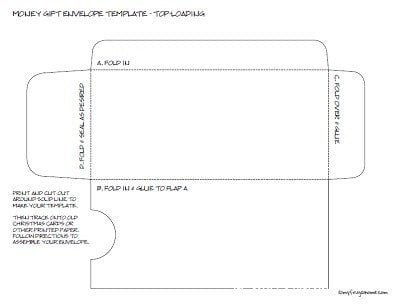 Printable Envelope Template Pdf Printable Money Envelope Templates