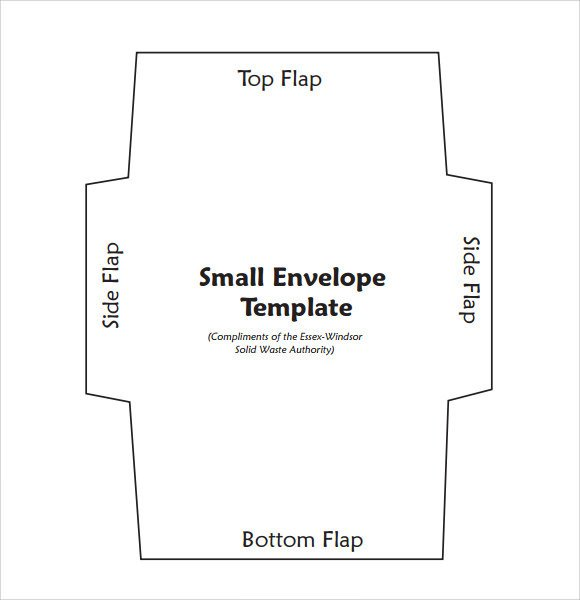 Printable Envelope Template Pdf Sample Small Envelope Template 7 Free Documents In Pdf