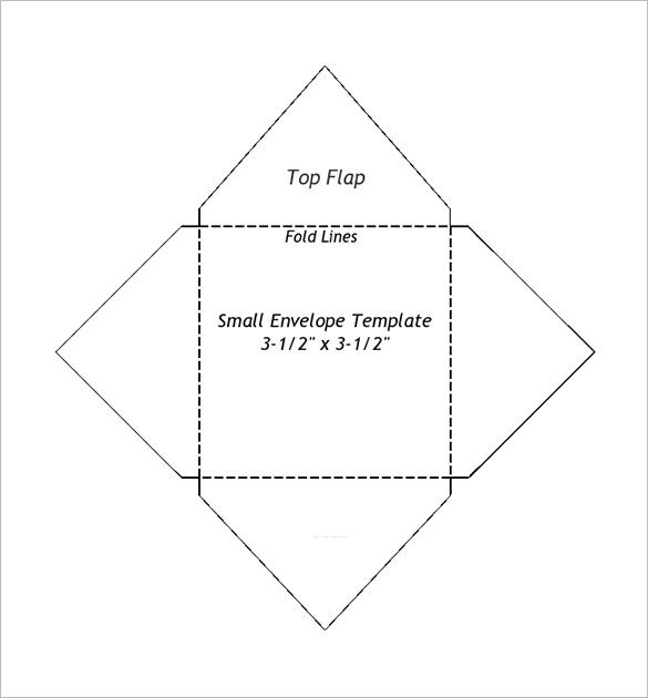 Printable Envelope Template Pdf Small Envelope Templates – 9 Free Printable Word Pdf