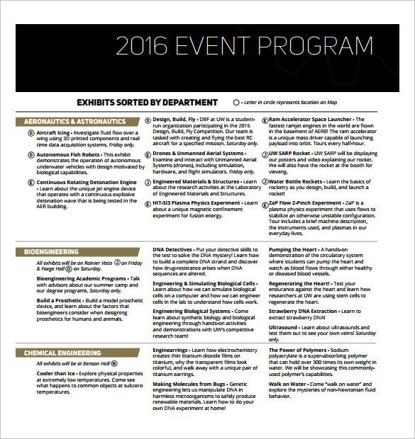 Printable event Program Template 38 event Program Templates Pdf Doc