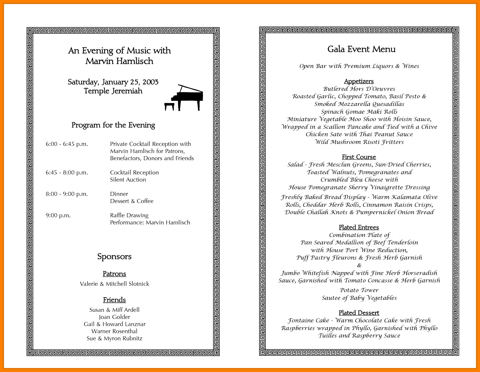Printable event Program Template Sample event Programs Template