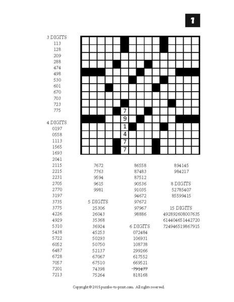 Printable Fill In Puzzle Number Fill In Puzzles Volume 2 Printable Pdf – Puzzles