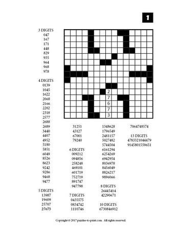 Printable Fill In Puzzle Number Fill In Puzzles Volume 3 Printable Pdf – Puzzles