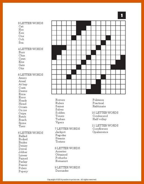 Printable Fill In Puzzle Word Fill In Puzzles Printable Pdf – Puzzles to Print