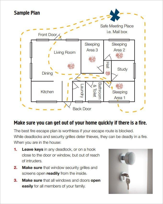 Printable Fire Escape Plan Template 7 Home Evacuation Plan Templates Ms Word Pdf