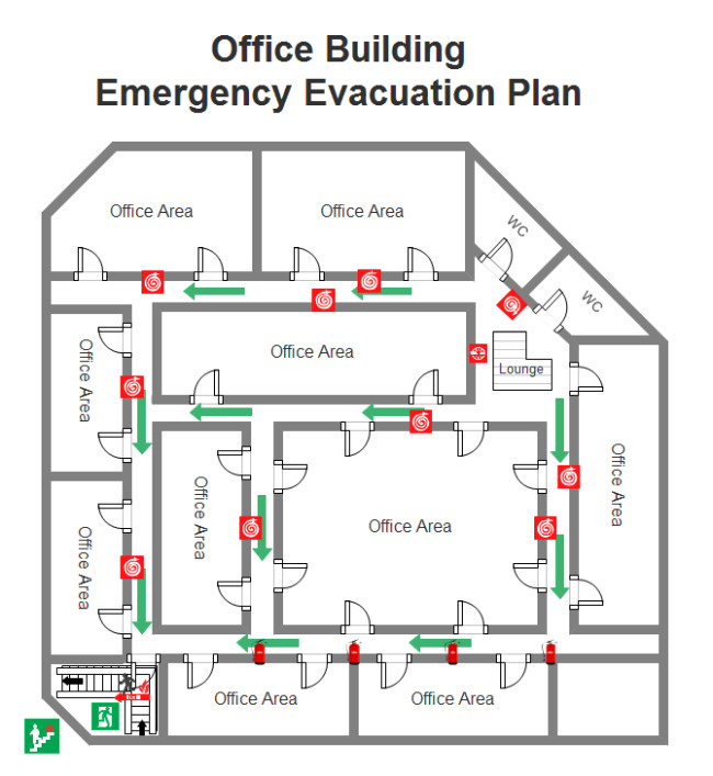 Printable Fire Escape Plan Template Emergency Evacuation Plan