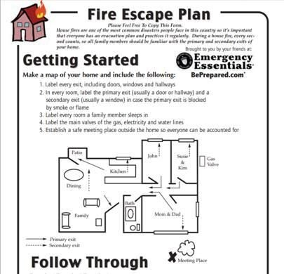 Printable Fire Escape Plan Template Fire Escape Plan Printable