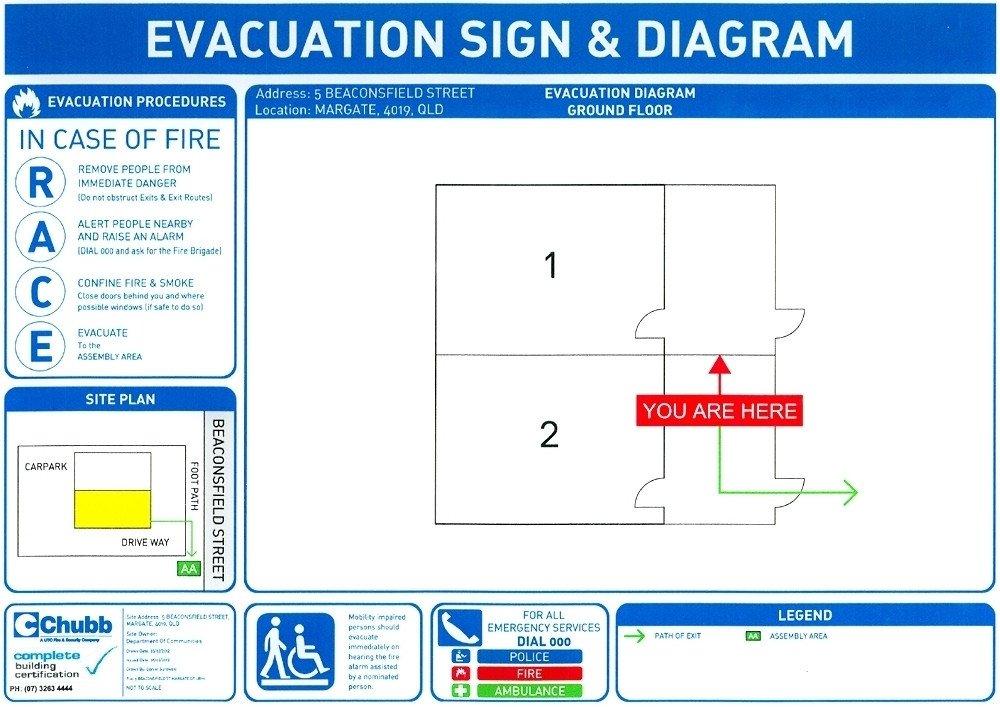 Printable Fire Escape Plan Template Free Fire Evacuation Plan Template
