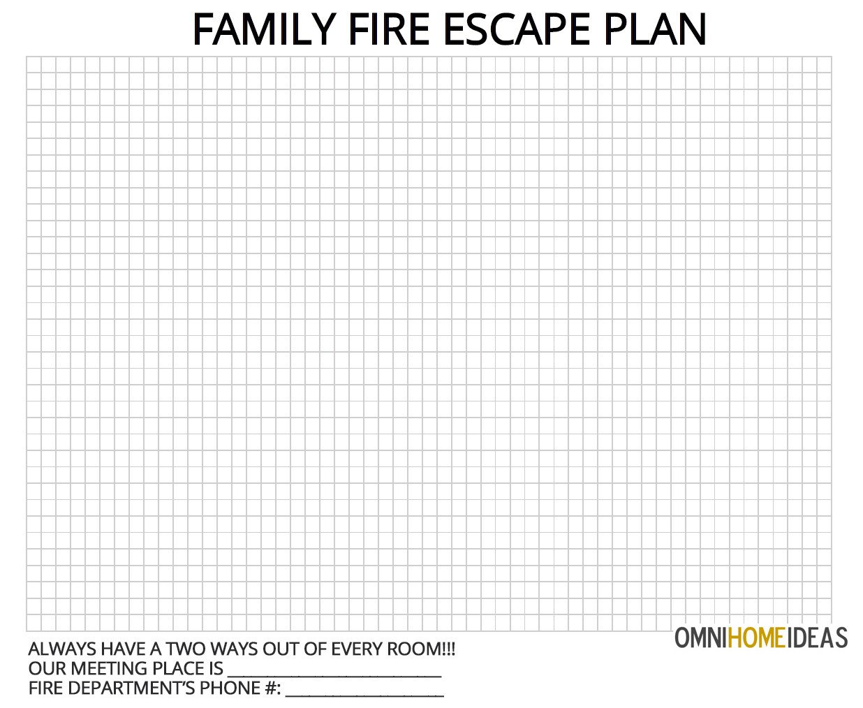 Printable Fire Escape Plan Template How to Make A Fire Escape Plan for Home with Printable
