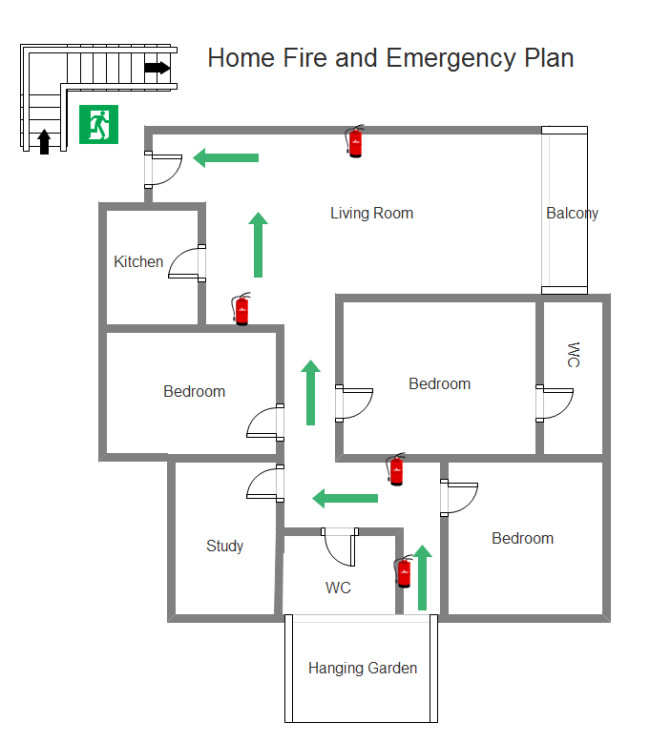 Printable Fire Escape Plan Template Use the Ideal tool to Make the Perfect Home Emergency