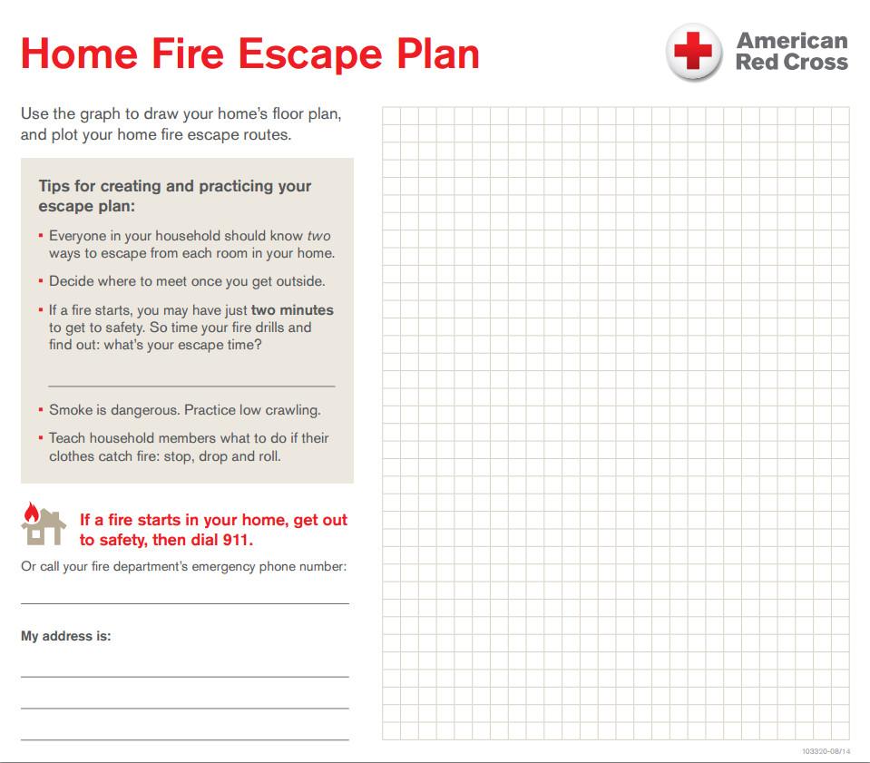 Printable Fire Escape Plan Template Your Home Fire Escape Plan – Central & south Texas Region