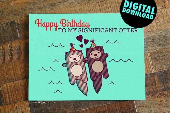 Printable Funny Birthday Card Funny Printable Birthday Card for Boyfriend Girlfriend