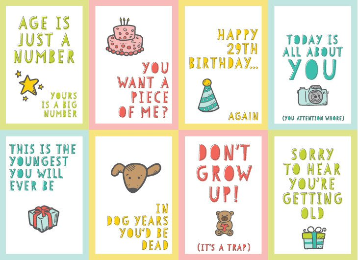Printable Funny Birthday Cards Free Funny Printable Birthday Cards for Adults Eight