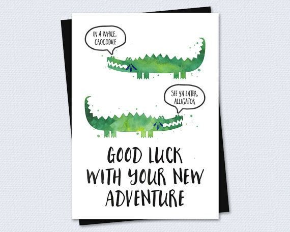 Printable Good Luck Cards Farewell Card Goodbye Card Good Luck with Your New