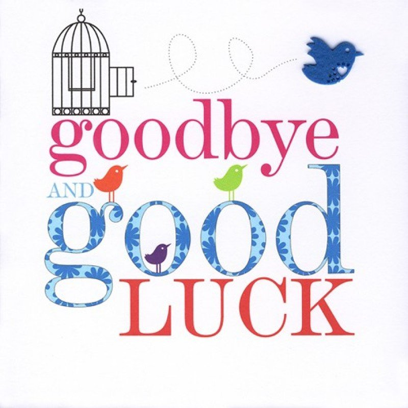 Printable Good Luck Cards Farewell Good Luck Clipart Clipart Suggest