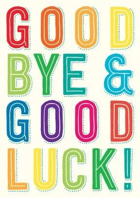 Printable Good Luck Cards Fice Clipart Farewell Pencil and In Color Office